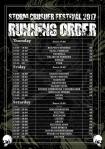 Running Order 2017
