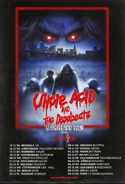 Uncle Acid & The Deadbeats und L.A. Witch – 08.12.2018 Luxor, Köln